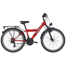 s'cool XYlite 24 21-S Børnecykel steel rød